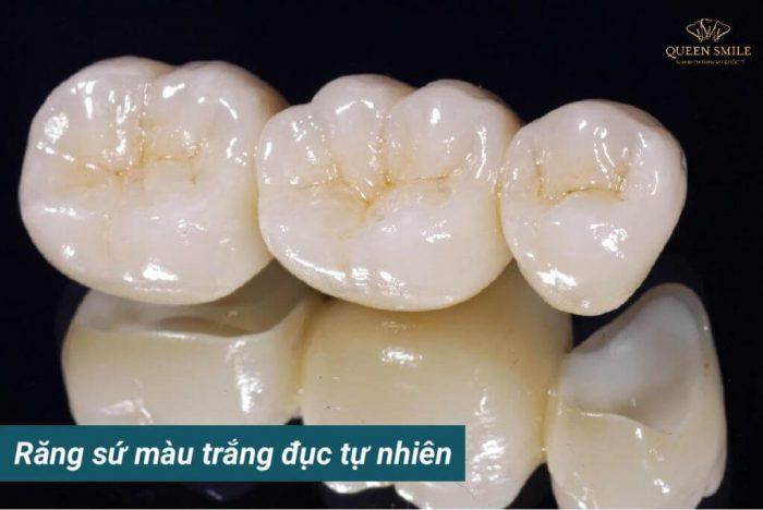 răng sứ màu đục