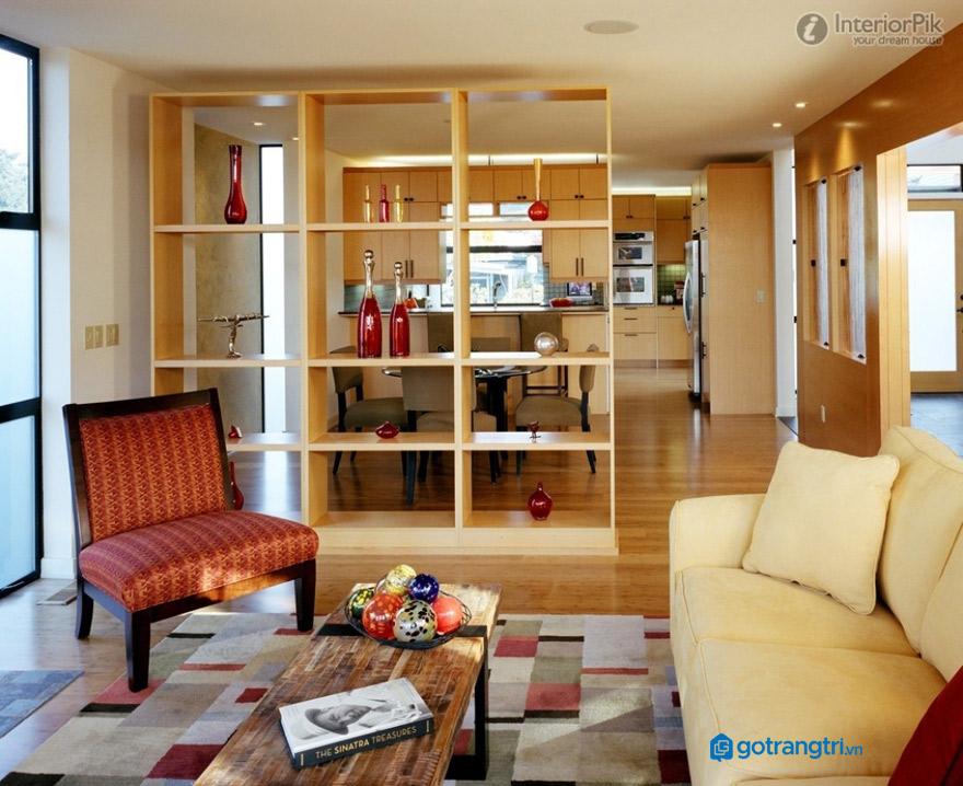 vách ngăn phòng khách và bếp mẫu 2