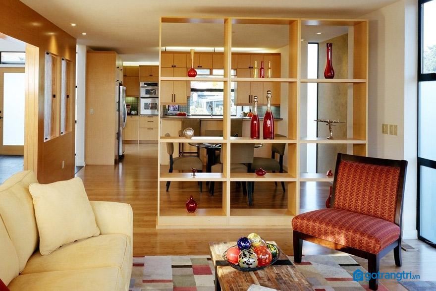 vách ngăn phòng khách và bếp mẫu 7