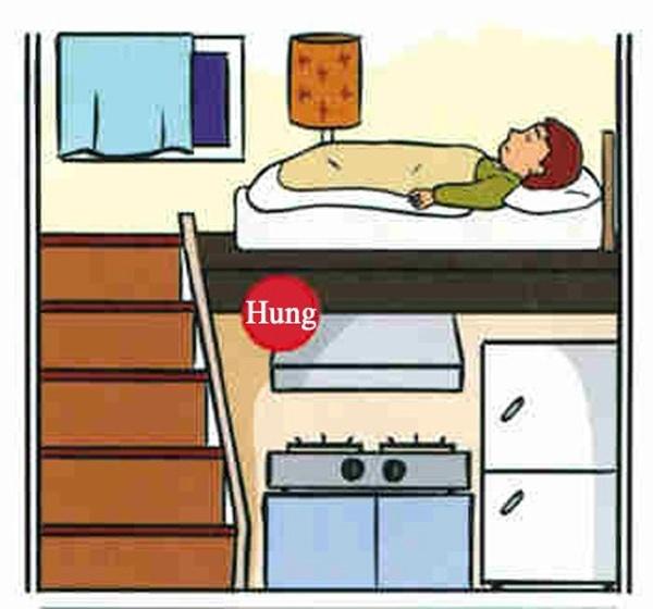 Phòng ngủ đặt trên bếp ăn gây tác động tới sức khỏe chủ nhân căn phòng. (Ảnh minh họa)